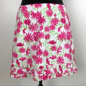 Lilly Pulitzer Floral Ruffle Skirt, Sz 8